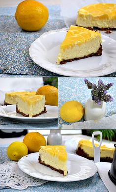 lemon curd swirled cheesecake with a gingersnap crust