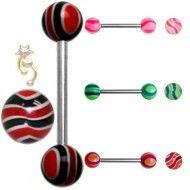 Wholesale Body Jewelry Uv Striped Ball Body Jewelry B15 Wholesale Body Jewelry, Barbell