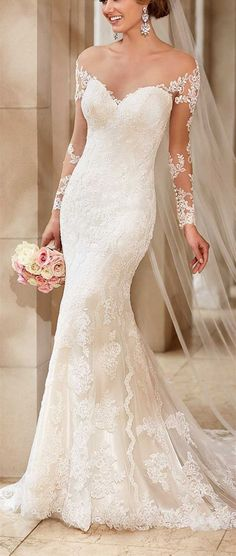 Hot Sale ,2016 Custom Lace Mermaid wedding dress,Off The Shoulder And Appliques wedding dress,Sexy See Through Wedding Dress - Thumbnail 1