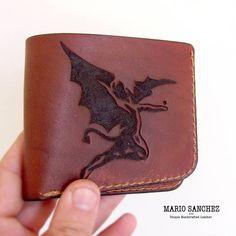 Custom Carved Bifold Wallet 100% Full Grain Leather