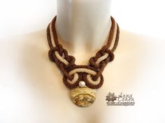 Sand curves necklace. FREE SHIPPING by AnnaCohen on Etsy