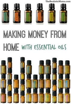 Making money from home sharing about Essential Oils. Education, support and a system that has been proven to work.