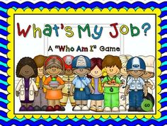 """My first Social Studies PPT Game! This """"Who Am I"""" game will be tons of fun for your students. There are 10 questions and you just click on each question to go to it.  Each question has 3 clues and student have to guess which community helper it describes."""