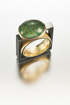 Aquamarine ring by Janis Kerman Design