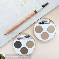 Kit sourcils et crayons Couleur Caramel - Eyebrow Kit and pencil by Couleur Caramel - Natural and organic make-up