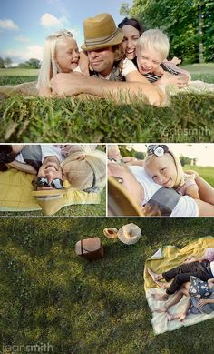 a day at the park - picnic poses. 27 Ideas for Family Photos | Posh Poses