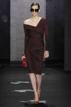Love the cut of the dress. And the off shoulder sleeve - Dian von Furstenberg       DVF Fall 2012