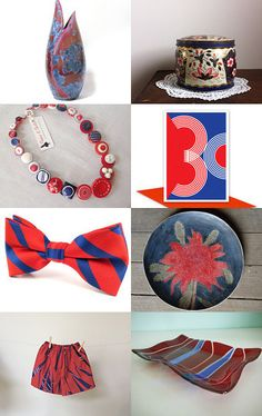 Red and Blue by Dianna on Etsy--Pinned with TreasuryPin.com