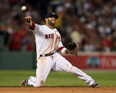 Dustin Pedroia of the Boston Red Sox fields a hit in the second inning against the Texas Rangers on April 17, 2012 at Fenway Park. #MLB #RedSox #BostonRedSox  http://www.fansedge.com/Dustin-Pedroia-Boston-Red-Sox-4172012-_-1405578125_PD.html?social=pinterest_41912_mlb_pedroia