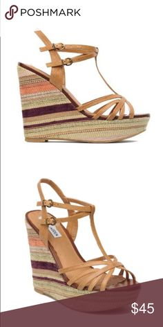 7daa606996bf Shop Women s Steve Madden Tan size Wedges at a discounted price at  Poshmark. Description  Steve Madden P-Pedd Wedges Size Sold by jadie.
