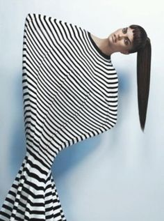 stretch +stripes. Linda Evangelista Canadian model.