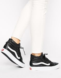 Vans SK8 Hi Slim Zip Black Hi Top Trainers at asos.com 58a47f5460a4d