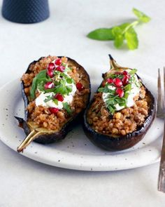 Perfect Lemon Ricotta Bundt Cake | Del's cooking twist Roast Eggplant, Stuffed Eggplant, Veggie Recipes, Healthy Recipes, Veggie Food, Vegetarian Recipes, Healthy Food, Eggplant Varieties, Vegetarische Rezepte