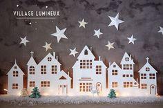 Een kerstdorpje is eigenlijk onmisbaar in huis rond de winter... Bekijk hier 8 simpele en basic kerstdorpjes! - Zelfmaak ideetjes