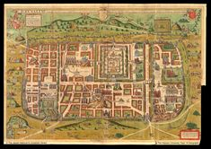 Map of Jerusalem, Christiaan van Adrichem, 1584