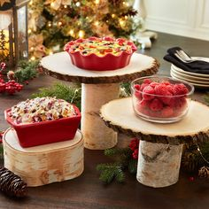 Elevate your dishes this holiday season with DIY Cozy Lodge Pedestal Trays