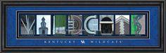 Kentucky Wildcats Letter Art Print - Wildcats (backorder)