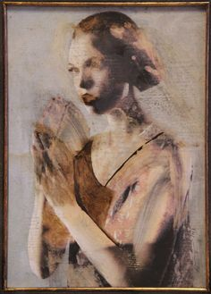 The figures depicted by Domenico Grenci float in a dimension outside of time, lacking any material reference. Abstract Portrait, Watercolor Portraits, Portrait Art, Figure Painting, Figure Drawing, Art Studio Design, Modern Portraits, Time Art, Art Studios