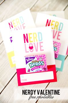 Nerdy Valentines Day free printables for classroom giving!