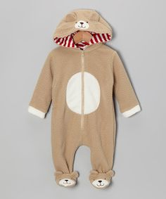 Take a look at this Light Brown Bear Footie - Infant on zulily today!