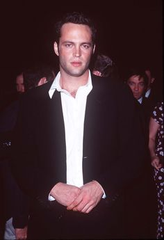 Pin for Later: Flashback to Vince Vaughn's Hot Early Days in Hollywood 1997 Vince struck a serious pose at the LA premiere of The Locusts in 1997.
