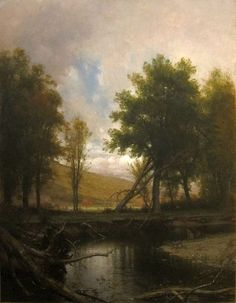 Thomas Worthington Whittredge  'Landscape with Stream and Deer'  c. 1877  Cincinnati Art Musuem