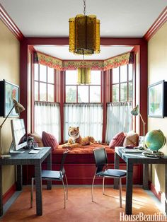 Children's Study - A Grand and Colorful Chicago Townhouse designed by Steven Gambrel