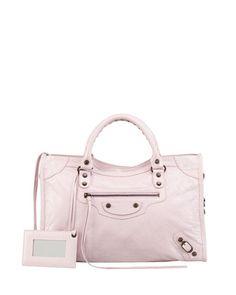 Classic City Bag, Rose by Balenciaga at Neiman Marcus.
