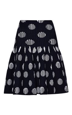 Dots And Stripes Jacquard Skirt by Kenzo for Preorder on Moda Operandi