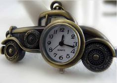 Classic cars bronze pocket watch necklaceV110 by XsisterJewelry, $7.99
