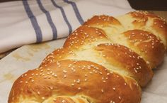<p>Challah is the traditional braided Jewish bread served on the Sabbath and Holy Days. It is known for its crusty exterior and soft and slightly sweet inside.</p>