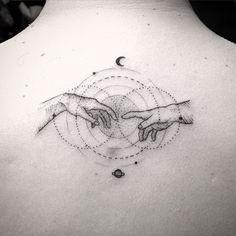 tattoo tatuagem daniel matsumoto criador Michelangelo Buonarotti - A Criação de Adão