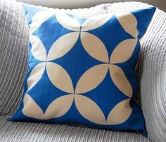 Stencil and paint a pillow - need to do this for throw pillows on my couch