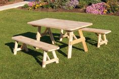 Outdoor A & L Furniture Western Red Cedar Traditional Picnic Table with 2 Side Benches Linden Leaf Red Cedar Wood, Western Red Cedar, Cedar Stain, Outdoor Dining Set, Outdoor Tables, Picnic Tables, Wood Tables, Outdoor Lounge, Outdoor Living