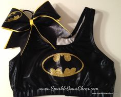 Battman Metallic Sports Bra and Bow Set
