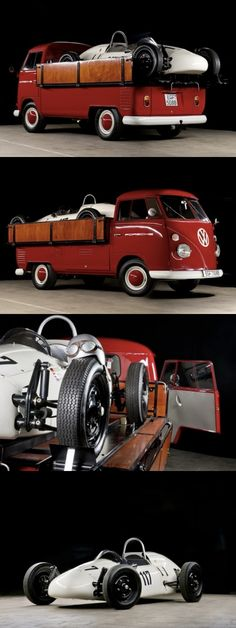 1965 VW Single Cab & Formula V. This is what love is made of...