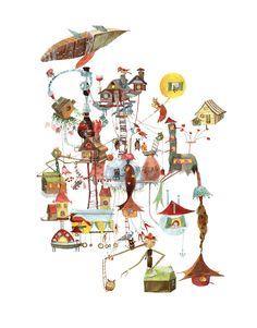 childrens book, illustration, fine art on Behance