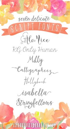 19 Must-Have Fonts - Delicate Script Fonts