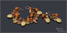 Spooky Halloween Bracelets are a part of Beaded Fall Collection 2019 Designed August/September 2019 for Rutkovsky Beads . Beaded Skull, Fall Collections, Spooky Halloween, Beading, Brooch, Stud Earrings, Bracelets, Etsy, Funny
