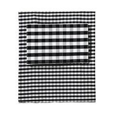 $250, Serena & Lily Gingham Sheet Set – Black Borrowed from the boys, this is one of those classic patterns that's easy to dress up or down ...