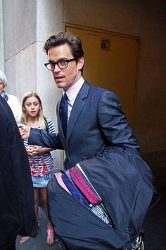 Matt Bomer,look at all those ties,if you can look away from him!