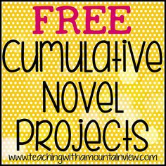 Are you looking for a fun way to end a novel study?  You've come to the right place!  Here you will find a collection of novel projects I h...