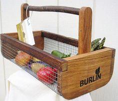 Unique Fruit & Vegetable Garden Harvesting by inspirationsnature. Vegetable Basket, Vegetable Storage, Vegetable Gardening, Organic Gardening, Gardening Tips, Wood Projects, Woodworking Projects, Harvest Basket, Harvest Garden