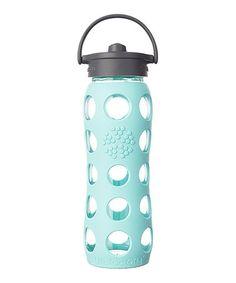 Look what I found on #zulily! Turquoise 22-Oz. Bottle & Gray Straw Cap #zulilyfinds