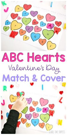 Easy, low-prep Valentine Theme Alphabet Matching Game Printable for Toddlers, Preschoolers, and/or Kindergarten kiddos! Valentines Day Activities, Alphabet Activities, Preschool Alphabet, Valentine Theme, Valentine Stuff, Valentine Nails, Valentine Ideas, Letter Recognition Games, Alphabet Games