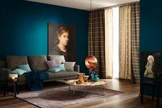 Petrol Als Wandfarbe U2013 So Wird Sie Kombiniert: Trendfarbe Petrol Und  Akzente Mit Kupfer
