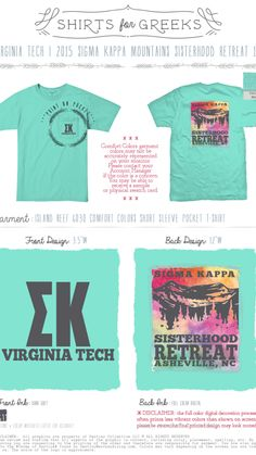 Sigma Kappa sisterhood mountain weekend retreat in Comfort Colors Island Reef #southbysea #sigmakappa #comfortcolors