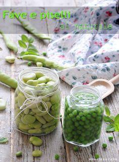 Fave e piselli al naturale Vegetables, Cooking, Desserts, Recipes, Sleep, Preserve, Kitchen, Tailgate Desserts, Deserts
