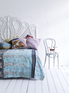 Quilt & rattan bedhad from The family love tree