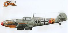 Messerschmitt Bf 109 E-7/B S9+AS of 8./ZG1 Belgorod June 1942 @Claes Sundin